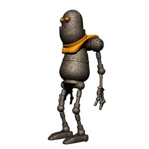 3d robot character model