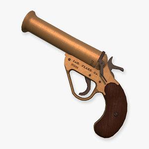 break flare gun 3d model