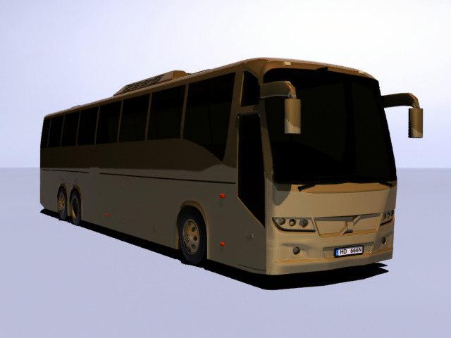 3d model bus passenger