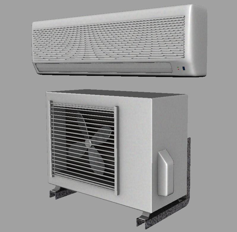 air conditioner set 3d obj