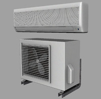 air conditioner set 3d obj