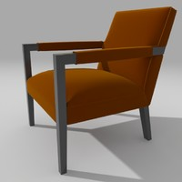 3d john chair armchair model