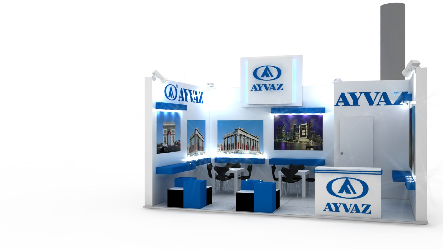 3d exhibition stand design model
