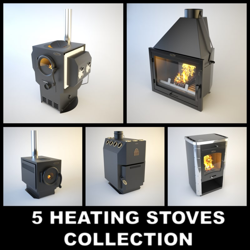 stove siber heating 3d max