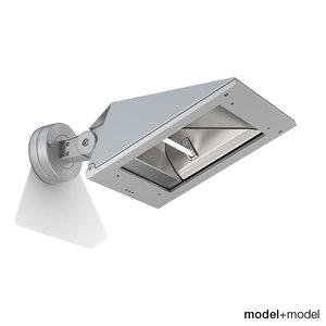 iguzzini iteka wall floodlight 3d model