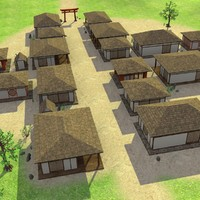 3d model japanese village