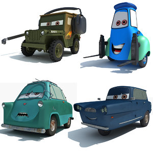 characters disney pixar cars 3d model