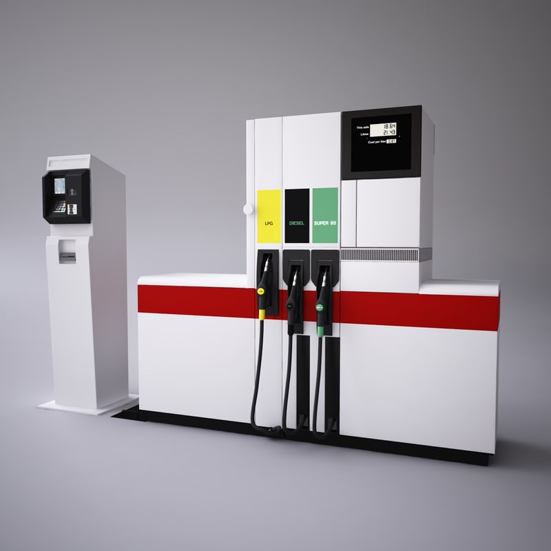 fuel dispenser 3d max