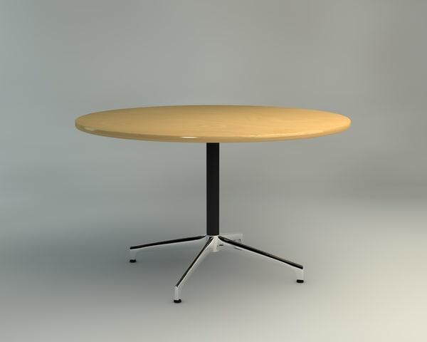 3d c4d eames table herman miller