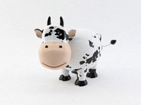 cute porcelain cow 3d model