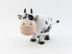 cute porcelain cow 3d model