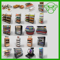 3d model food product display