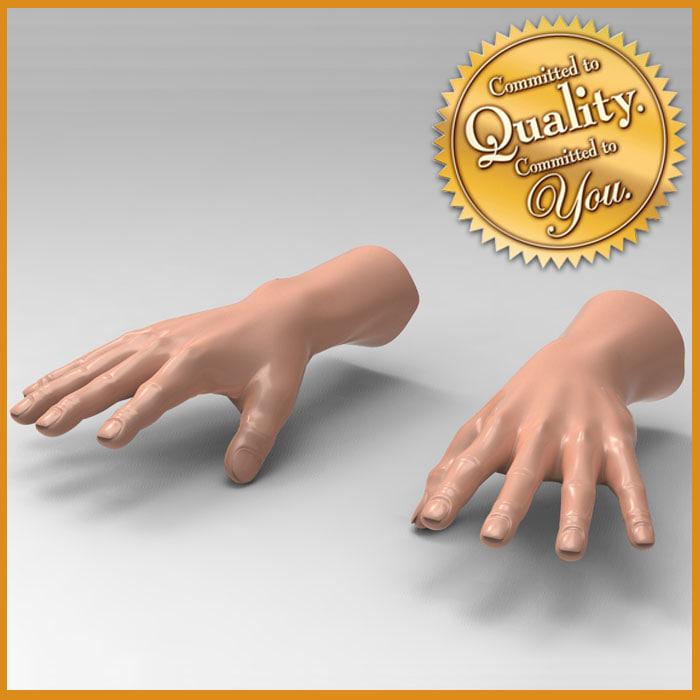 3d human male hand model