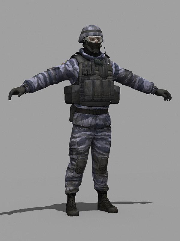 military russian 3d model