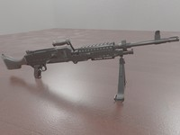 m240b machine 3d model