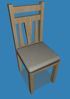 3ds contemporary dining chair
