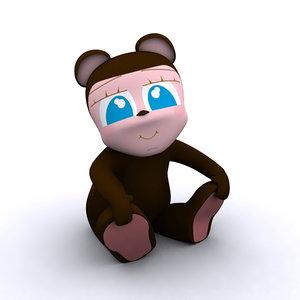 max kid rigged tender bear