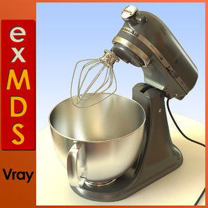 3d food mixer model