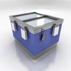 3d model of freezer