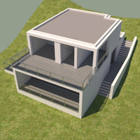 3ds max house contemporary