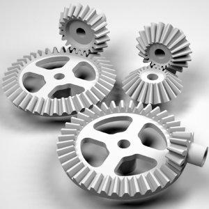 involute bevel gears 3d model