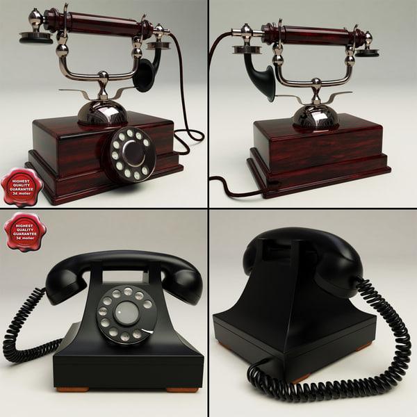 3d retro phones