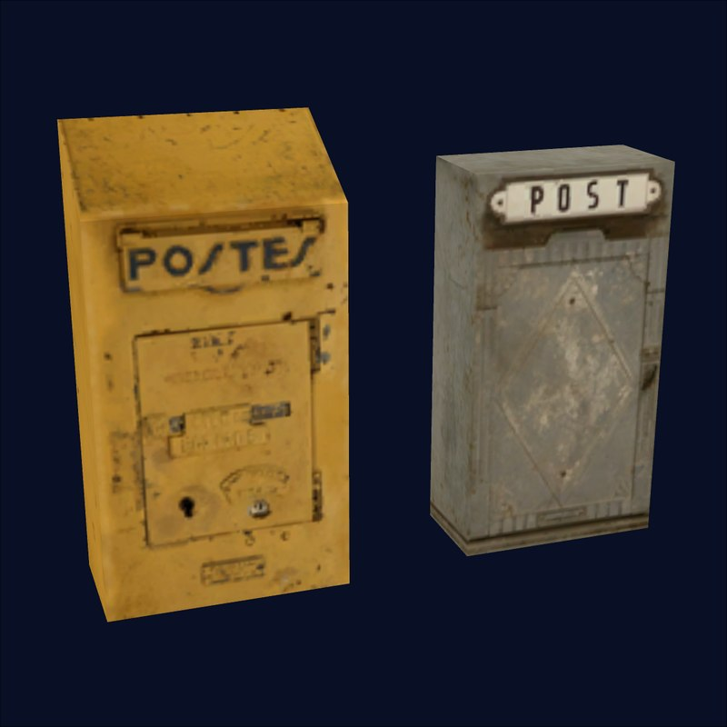 mail boxes 3d 3ds