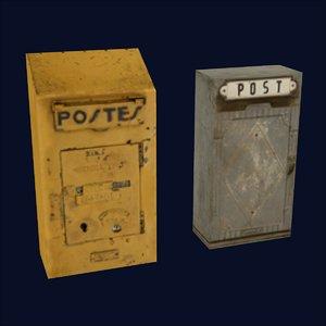 mail boxes 3d 3ds