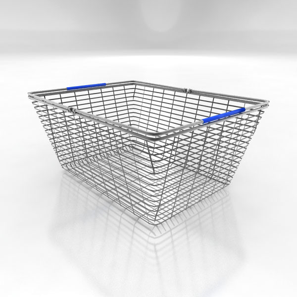 shopping basket 3d 3ds