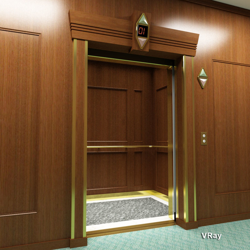 Passenger Elevator Wood Paneling Max
