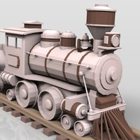 3d wooden toy rail