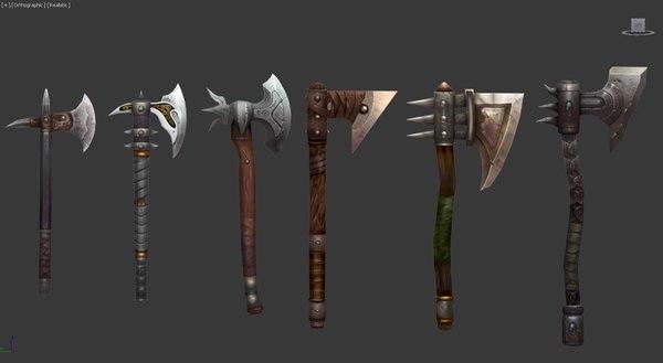 3d model axes shields