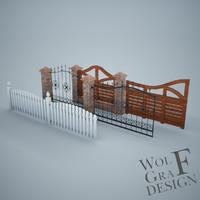 fence gate obj