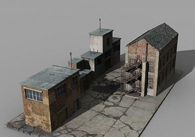 factory buildings 3ds