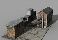factory buildings 3ds