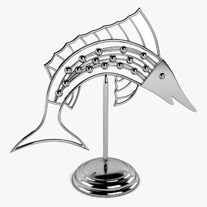 3d model fish decoration