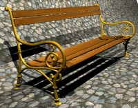 Train Station Bench Vintage