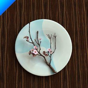 3d model contemporary flower arrangement