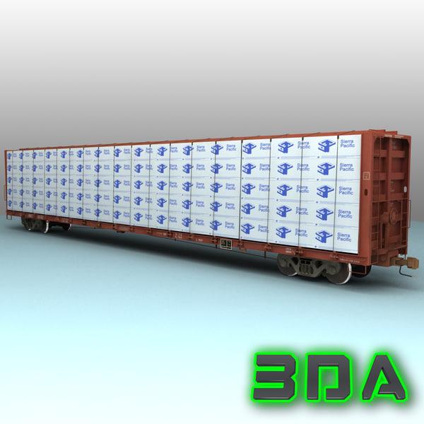 3d model f483 centerbeam rails bnsf
