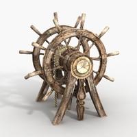 3d model steering wheel