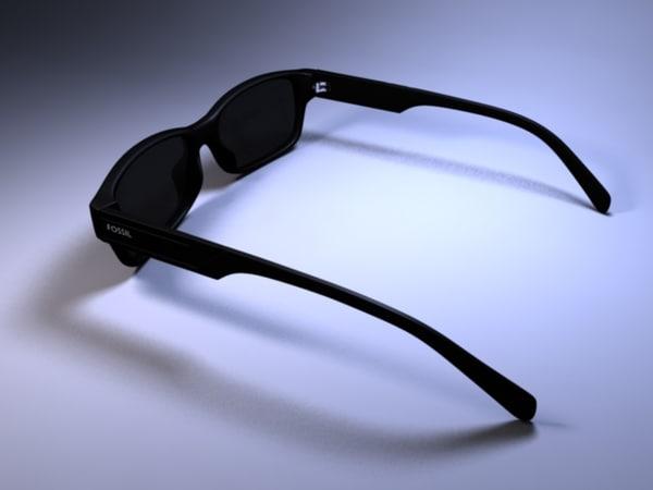 3d fossil sunglasses model
