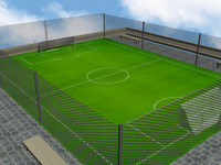 3dsmax football pitch