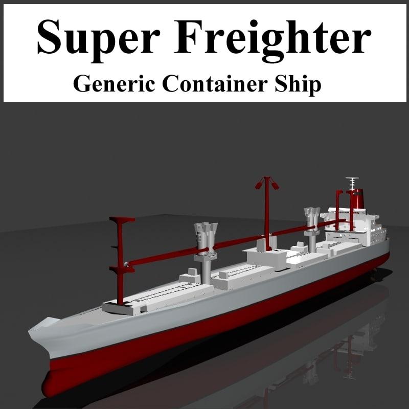 obj container ship