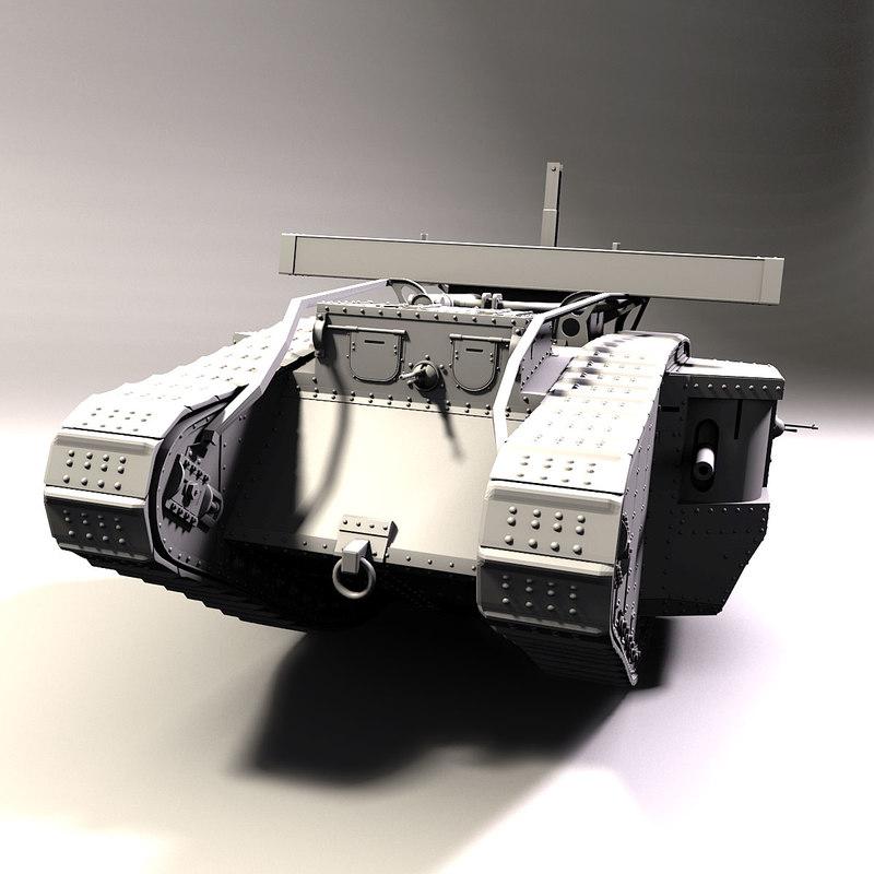 british mark v tank 3d obj