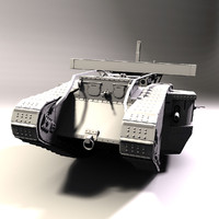 british mark v tank 3d obj