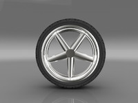 3d model of car tyre