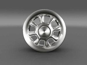car tyre rim 3d model