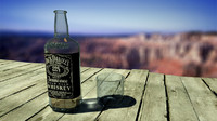 bottle jack daniel whiskey 3d max