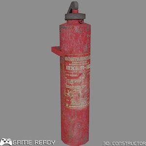 ready extinguisher 3d model