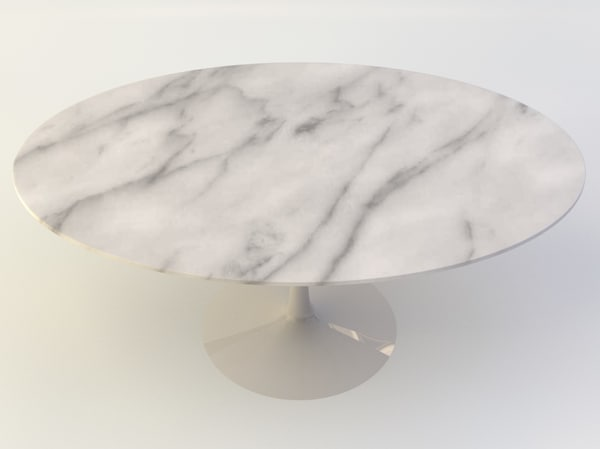 obj tulip oval table